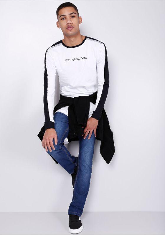 Camiseta-Estampada-Faixa-Lateral-Manga-Longa-Branca-Gang-Masculina