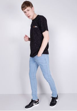 Camiseta-Manga-Curta-Preta-Gang-Masculina