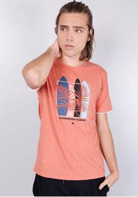 Camiseta-Estampada-Manga-Curta-Pranchas-Mescla-Coral-Laranja-PP